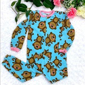 Carter's Fleece Monkey 🐵 Pajamas Size 4
